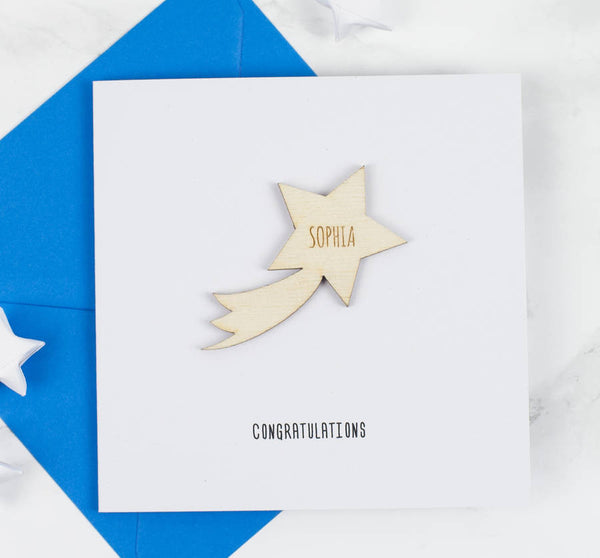 Personalised Shooting Star Congratulations Card