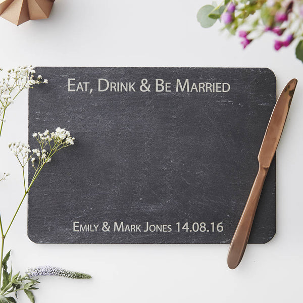 Personalised Slate Wedding Cheese Board
