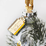 Personalised Snow Christmas Tree Bauble