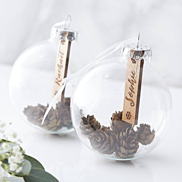 Personalised Pine Cone Christmas Bauble
