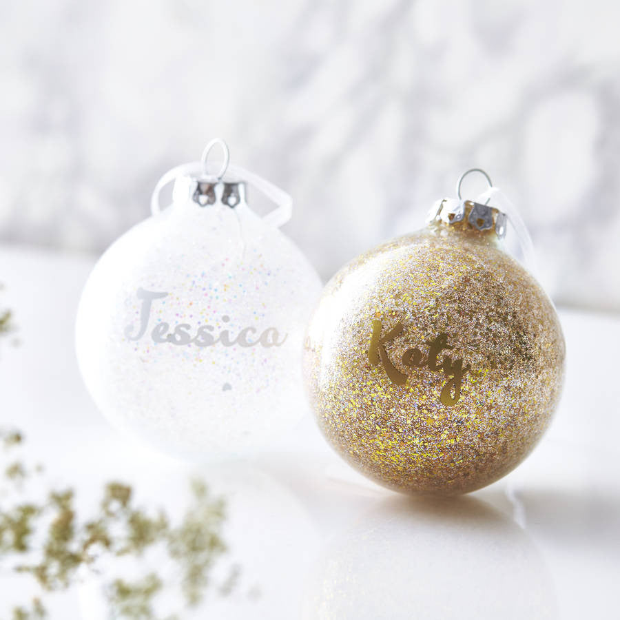 Personalised Sparkle Bauble