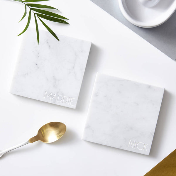 Personalised Square Marble Coaster