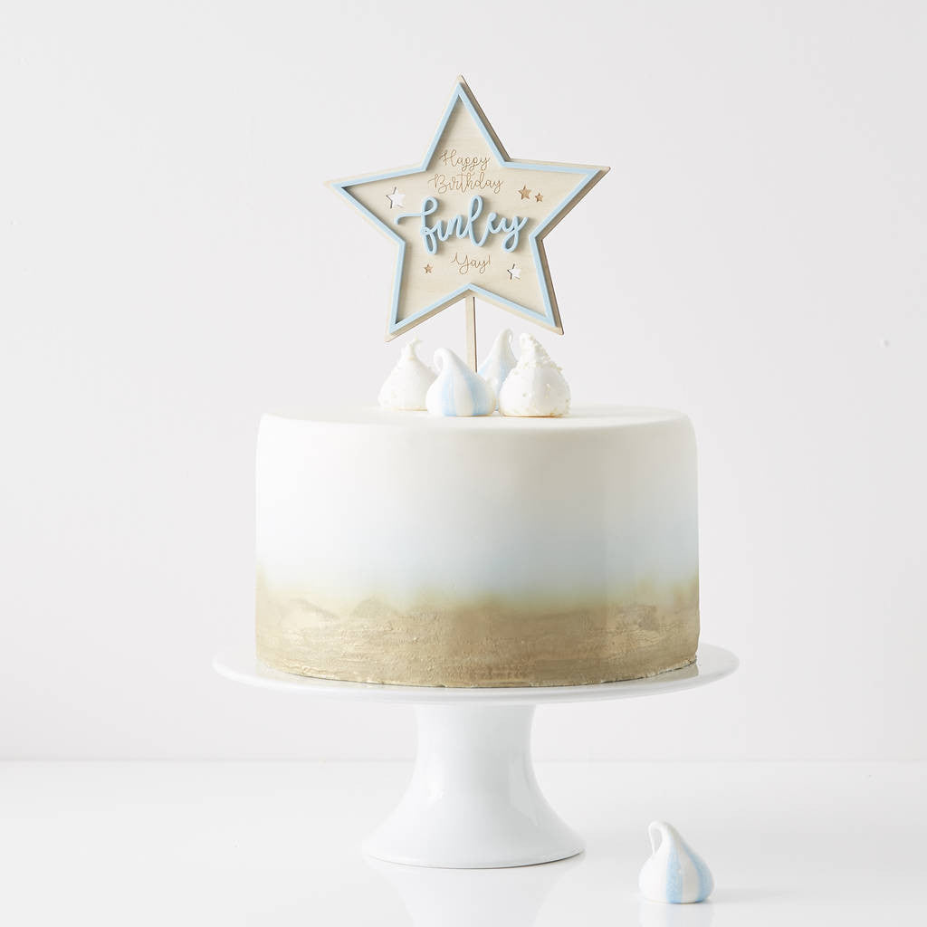 Personalised Star Birthday Cake Topper