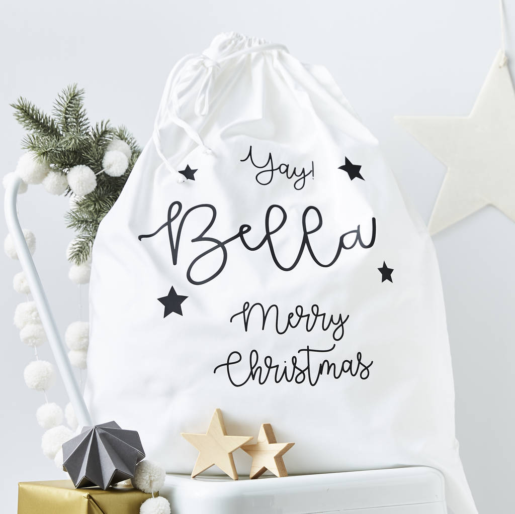 Personalised Children's Christmas Sack