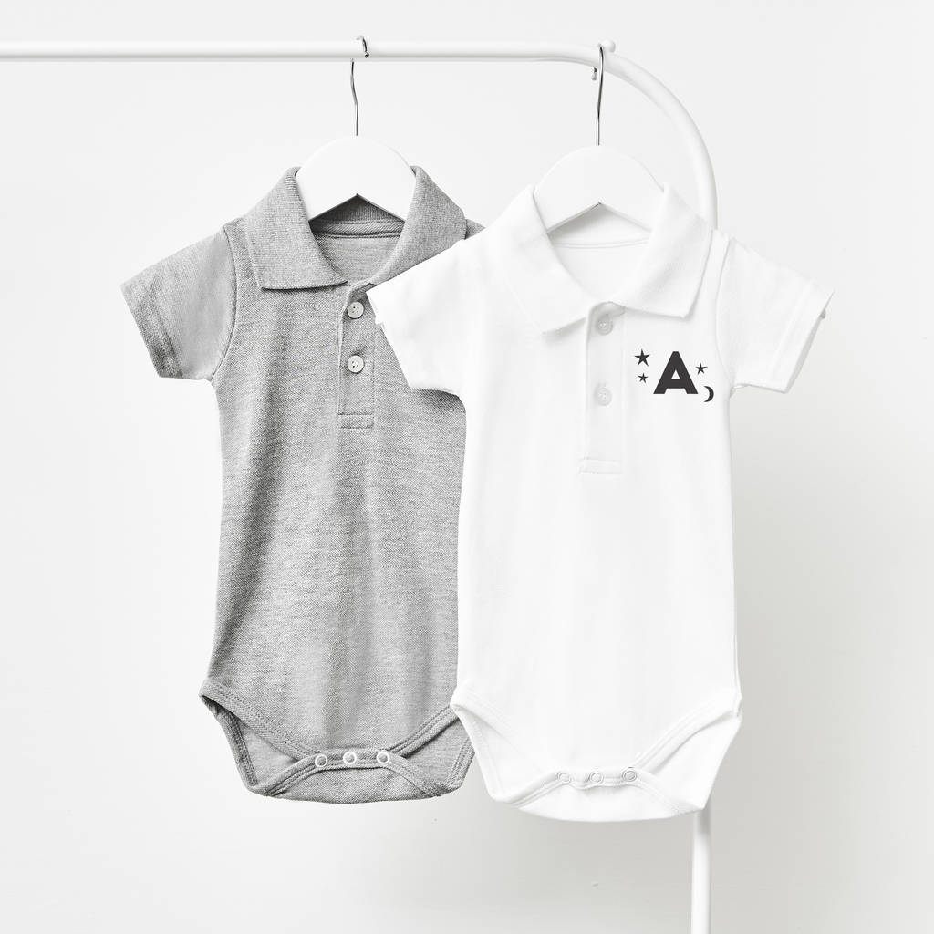 Little Stars Personalised Polo Babygrow