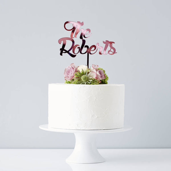 Personalised Surname Wedding Cake Topper