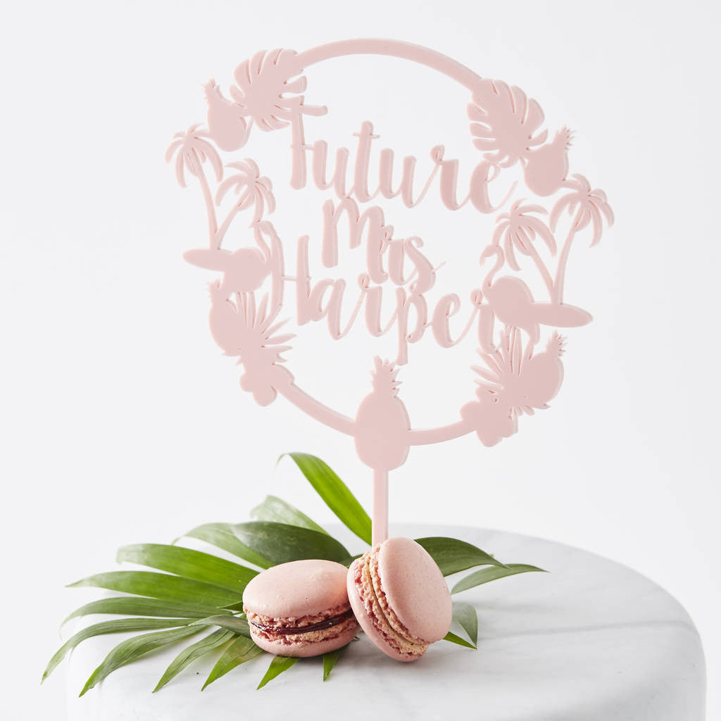 Personalised Tropical Hen Party Cake Topper