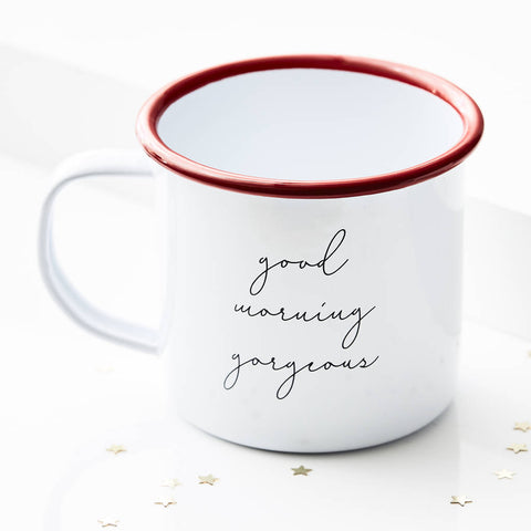 Personalised Message Enamel Mug