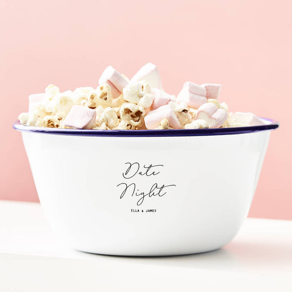 Personalised Date Night Popcorn Bowl
