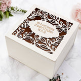 Personalised Vine Wedding Keepsake Box