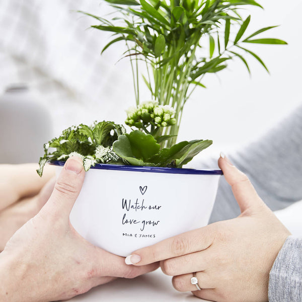 Personalised Watch Our Love Grow Planter