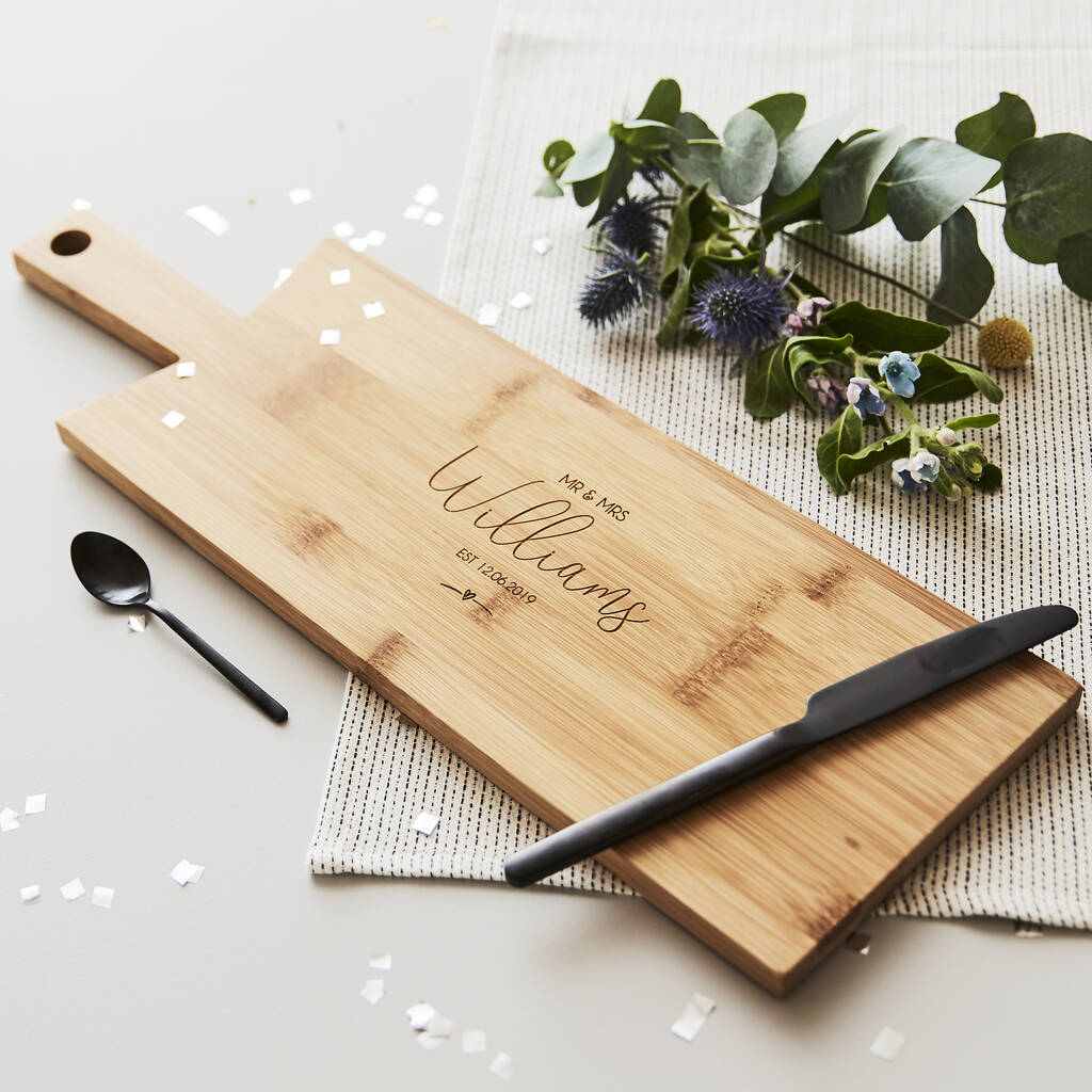 Personalised Wedding Chopping/Cheese Board