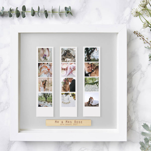 Personalised Wedding Framed Photo Booth Print