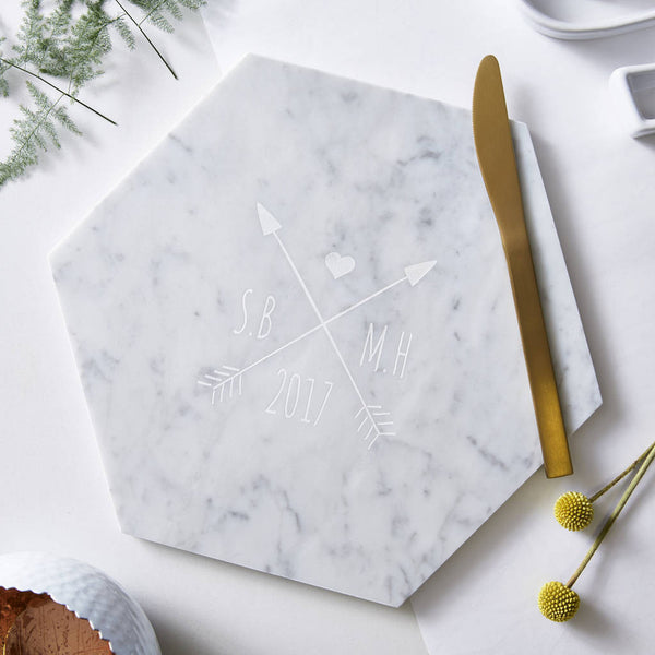 Personalised Wedding Marble Serving Board
