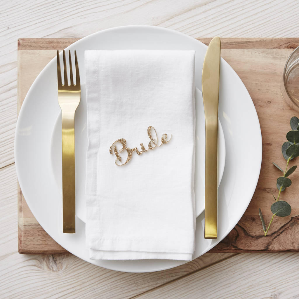 Personalised Wedding Name Place Settings