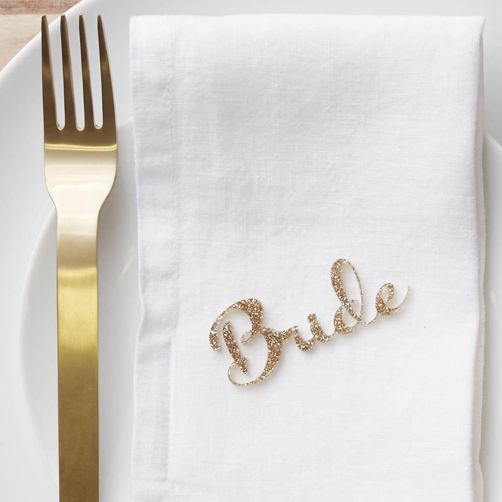 Personalised Wedding Name Place Setting