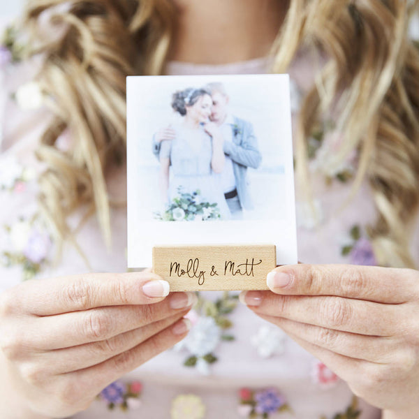 Personalised Wedding Photo Block