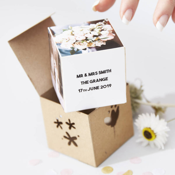 Personalised Wedding Photo Cube