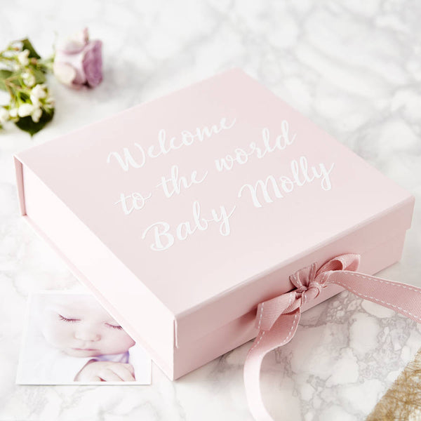 Personalised Welcome To The World Keepsake Box