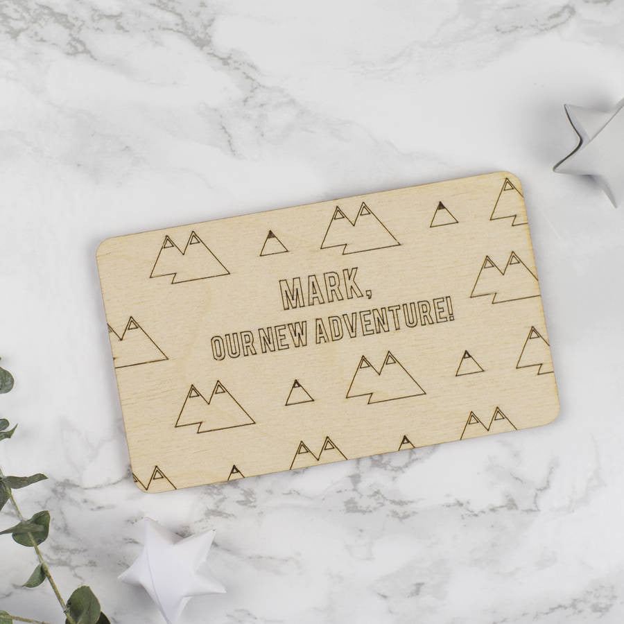 Personalised Wooden Adventure Card