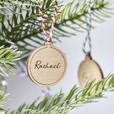 Personalised Wooden Bauble Decoration