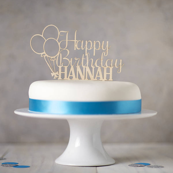Personalised Wooden Birthday Cake Topper