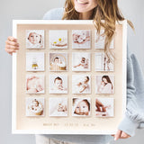 Personalised Wooden Framed Baby Photo Print