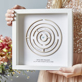 Personalised Wooden Maze Print