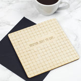 Personalised Wooden Notecard