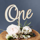 Personalised Wooden Number Birthday Cake Topper
