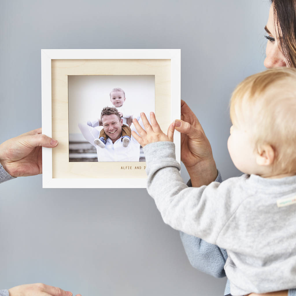 Personalised Wooden Photo Frame For Dad