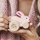 Personalised Wooden Toy Bunny