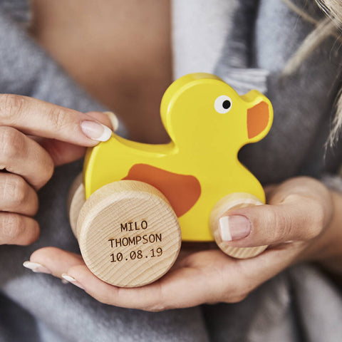 Personalised Wooden Toy Duck