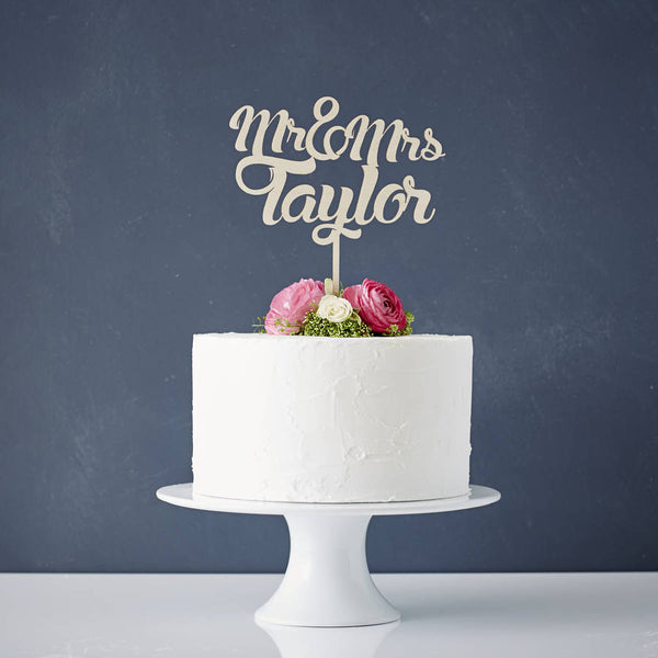 Personalised Wooden Wedding Cake Topper