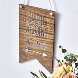 Personalised Wooden Wedding Sign