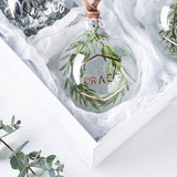 Personalised Wreath Glass Bauble