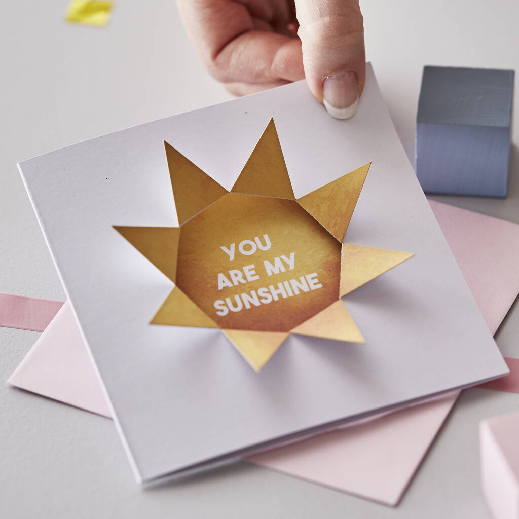 Personalised You Are My Sunshine Card