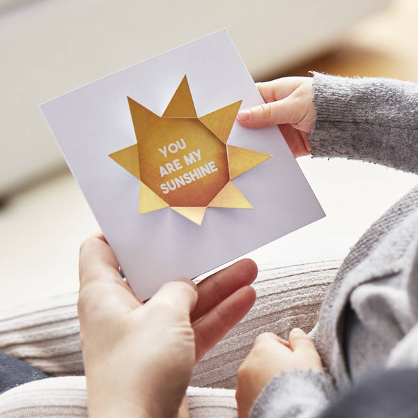 Personalised You Are My Sunshine Father's Day Card