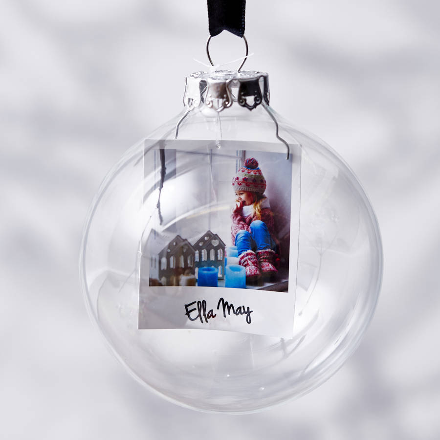 Photo Glass Personalised Christmas Bauble