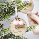 Pom Pom Personalised Christmas Decoration