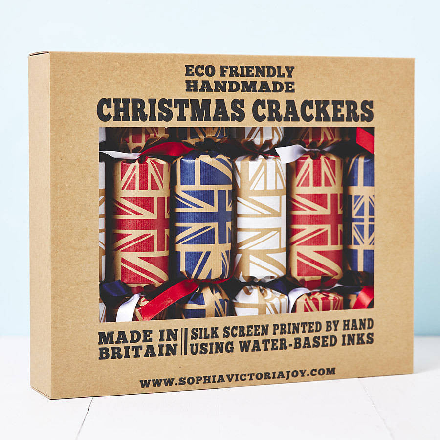 Recycled Union Jack Christmas Crackers