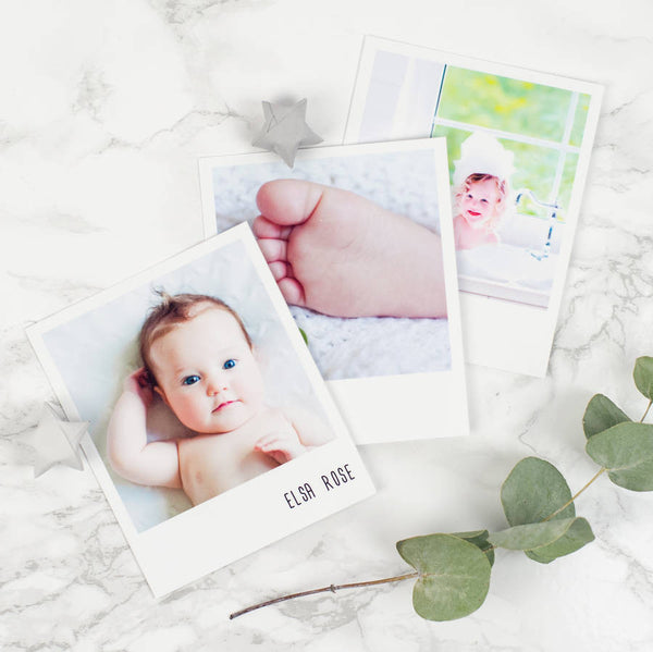 Set Of 10 Personalised Photo Prints