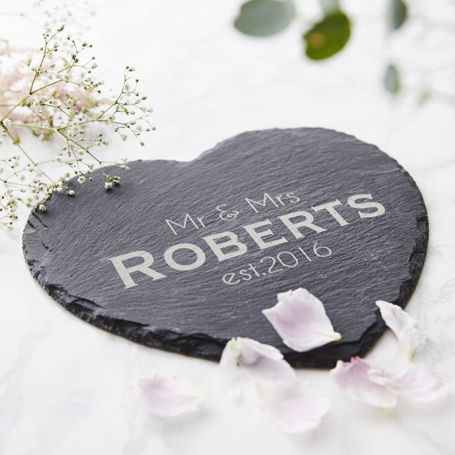 Slate Heart Personalised Serving Board