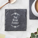 Slate Personalised Family Coaster