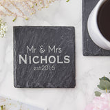 Slate Personalised Wedding Coaster