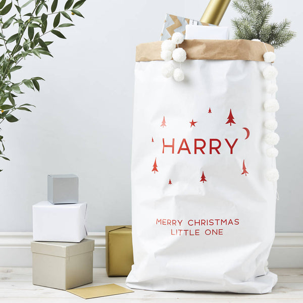 Personalised Christmas Paper Sack