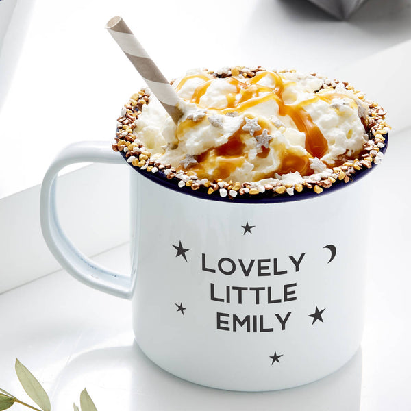 Starry Night Personalised Enamel Mug