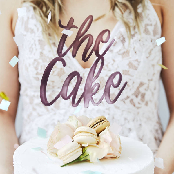 'The Cake' Personalised Wedding Cake Topper