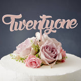 Twenty One Birthday Cake Topper
