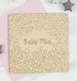 Wooden Personalised New Baby Card